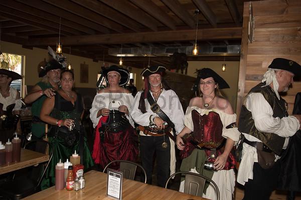 Pirates Invasion of Baynes BBQ on May 20, 2017 in Flagler Beach, FL