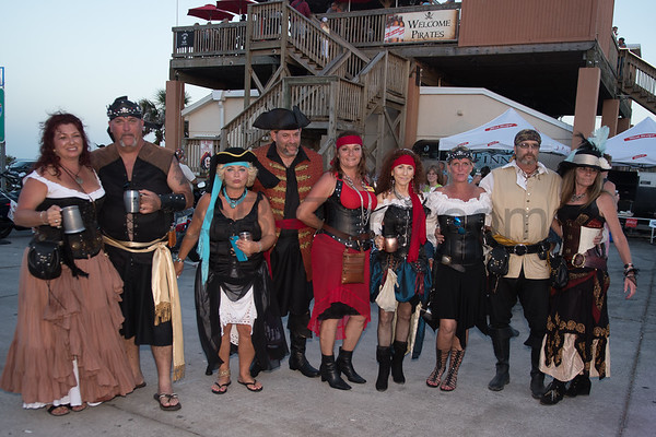 Pirates Invasion of Finn's Beachside  Pub on May 20, 2017 in Flagler Beach, FL