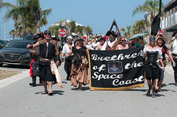Pirates Invasion Parade on May 20, 2017 in Flagler Beach, FL