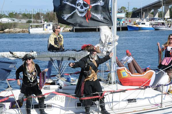 Pirates of Lost Treasure Mardi Gras Flotilla-2013
