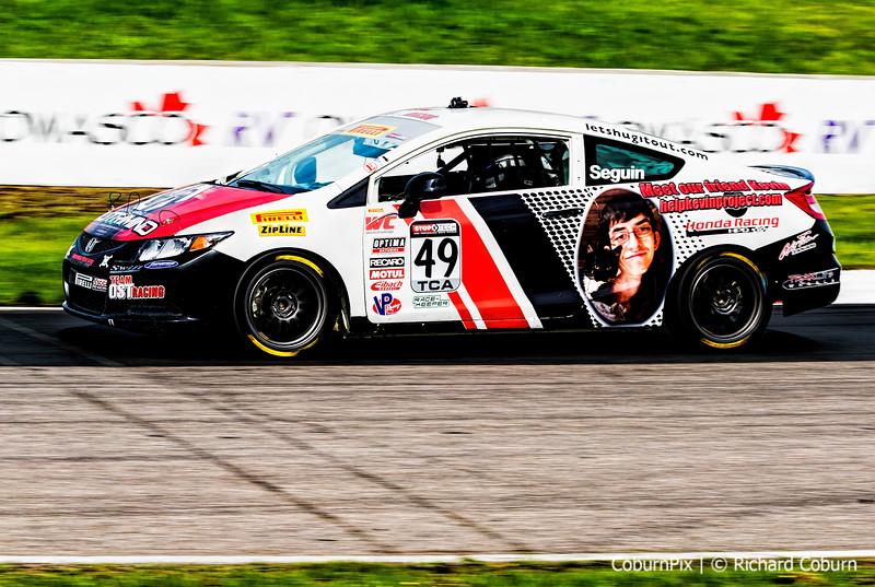 #49 Patrick Seguin of Ottawa ON at speed