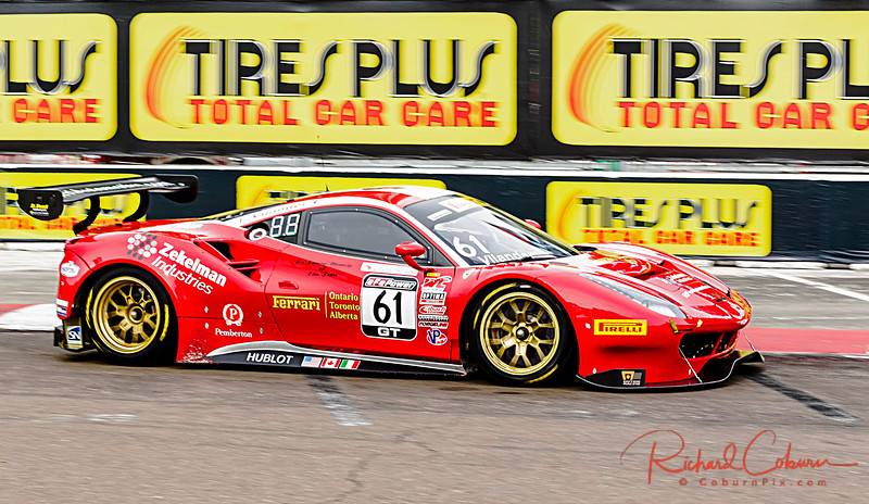 61 Toni Vilander  Ferrari with Canada Connection - 2nd race 1