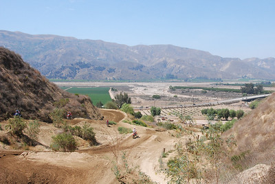 A look from the top of the track down into the Santa Clara river valley below.  7/29/07