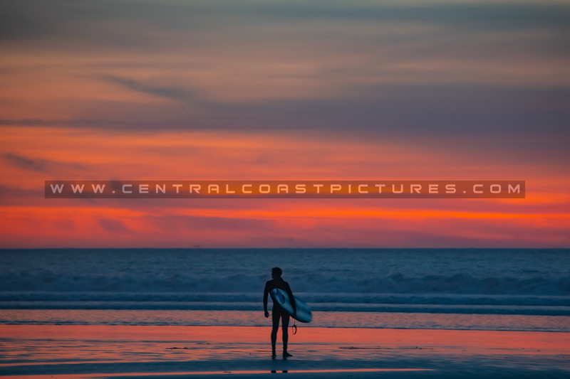 pismo sunset surfer 0582