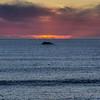 shell beach rock sunset 0819-