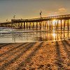 pismo pier gold sunset 2701