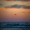 oceano sunset airplane 8671