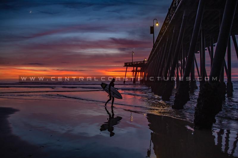 pismo surfer sunset 7467