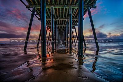 under pismo pier sunset 5202