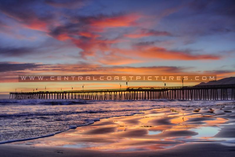 pismo beach pier sunset 1867