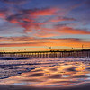 pismo beach pier sunset 1867