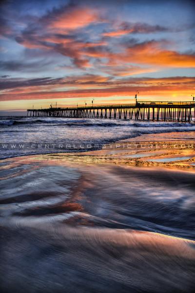 pismo beach pier sunset 1821