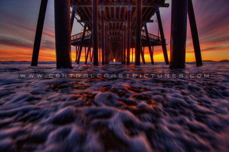 under pismo pier sunset fav 7082