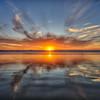 pismo sunset reflection 9132