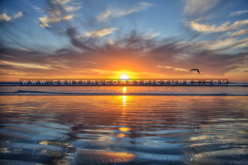 pismo sunset reflections 9122