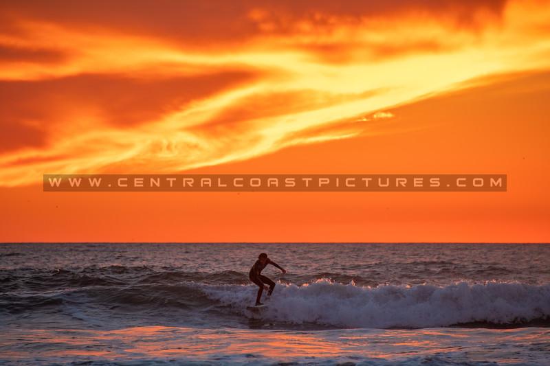 pismo surfer sunset 7025