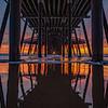 under pismo pier sunset 7069