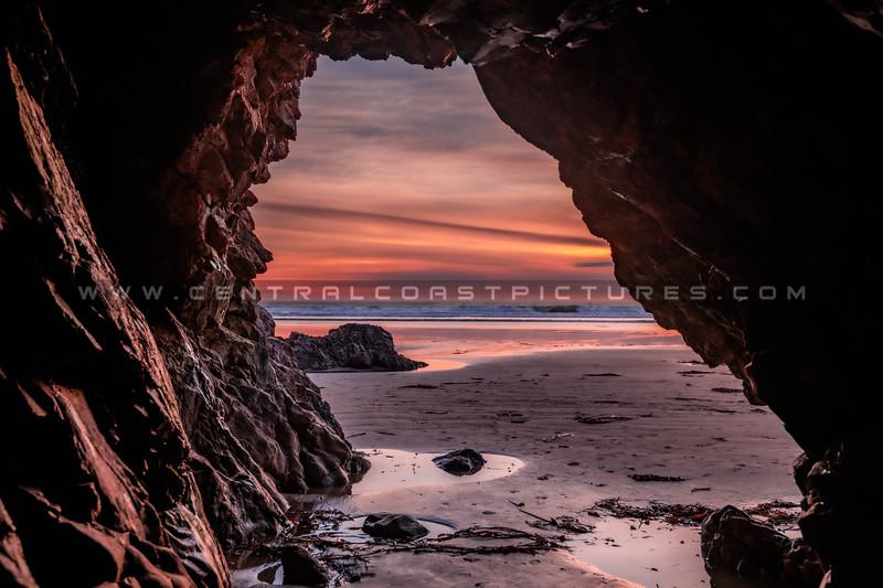 pismo cave sunset 0453b