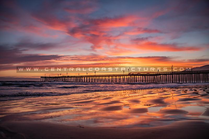 pismo beach pier sunset 1865
