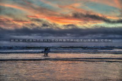 pismo surfers sunset fog 5250