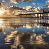pismo pier sunrays 1414-