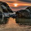 pismo rock sunset 0457