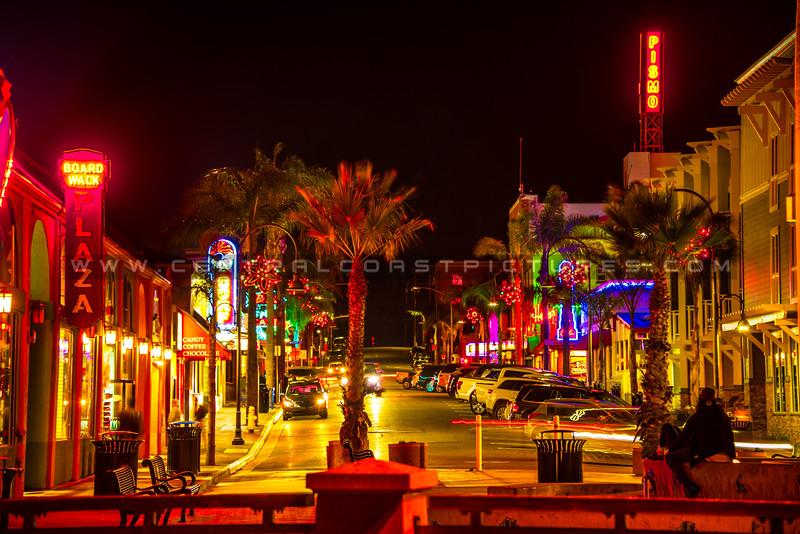 downtown xmas pismo night-5830