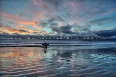 pismo surfers sunset fog 5257