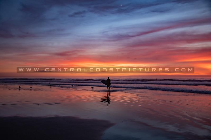 pismo surfer sunset 7456