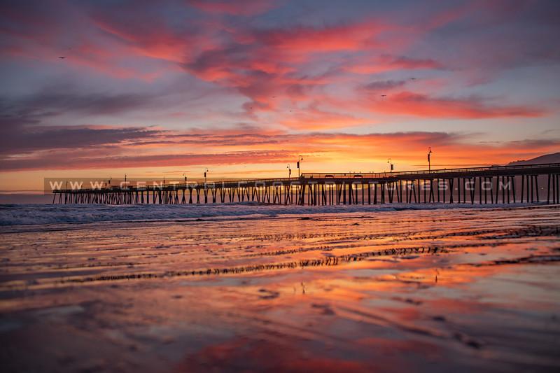 pismo beach pier sunset 1872