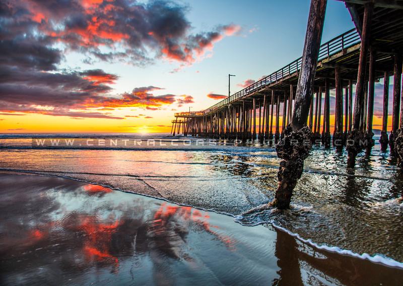 pismo-pier-reflection-sunset-1413
