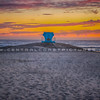 lifeguard tower sunset-9673