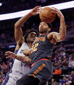 APTOPIX Hawks Pistons Basketball