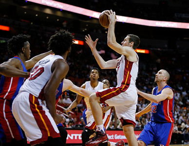 Pistons Heat Basketball