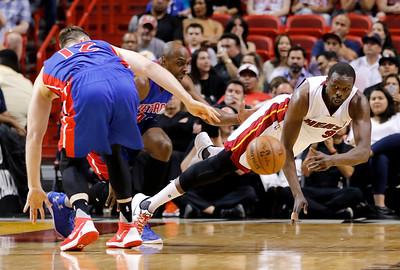APTOPIX Pistons Heat Basketball