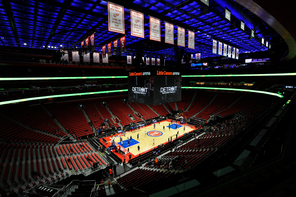 . Little Caesars Arena is set for the game between the Detroit Pistons and the Sacramento Kings.  Photo taken on Saturday, Nov. 4, 2017 in Detroit.  (Special to The Oakland Press/Jose Juarez)