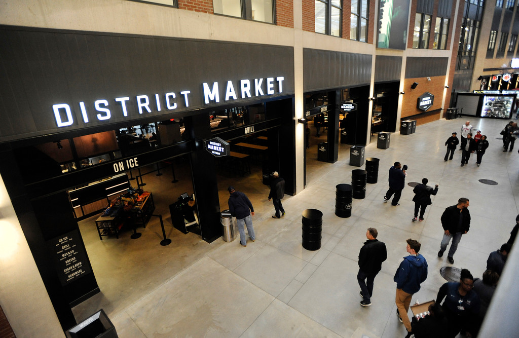 . The District Market at Little Caesars Arena.  Photo taken on Saturday, Nov. 4, 2017 in Detroit.  (Special to The Oakland Press/Jose Juarez)