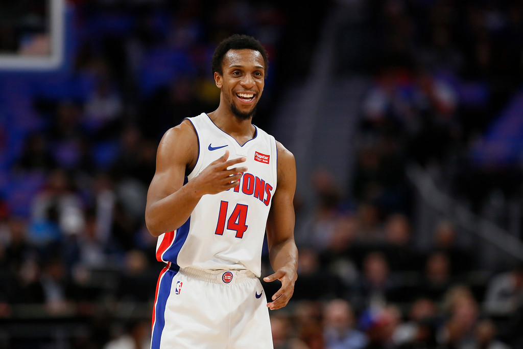 . Detroit Pistons guard Ish Smith (14) during the first half of an NBA basketball game against the Memphis Grizzlies Thursday, Feb. 1, 2018, in Detroit. (AP Photo/Duane Burleson)