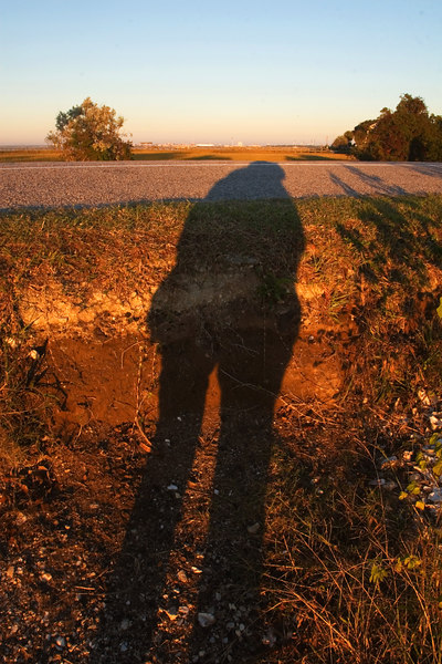 my shadow goes in and OUT with me.  Especially at sunrise!