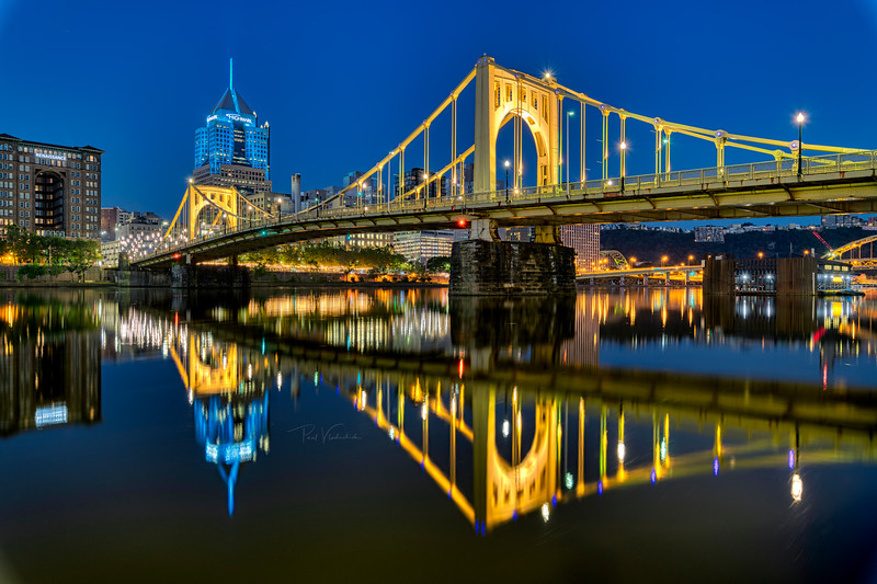 Roberto Clemente Bridge at Dawn - Pittsburgh Pennsylvania