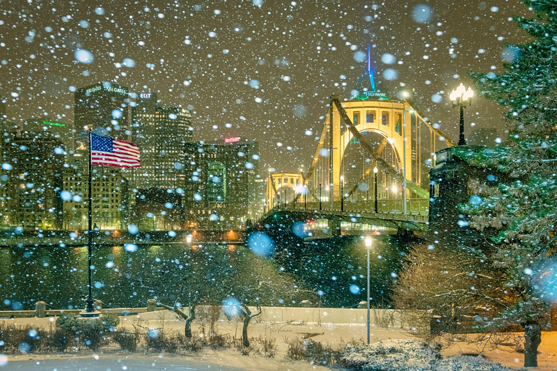 Allegheny Landing in the Snow - Pittsburgh Pennsylvania