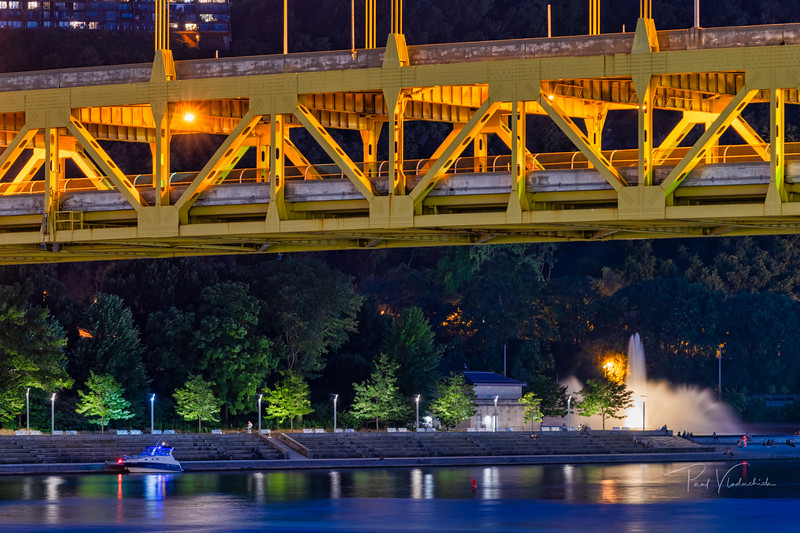 Road Deck and the Fountain - Pittsburgh Pennsylvania