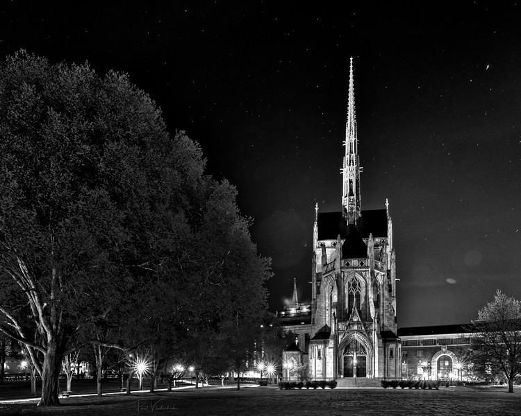 Heinz Chapel on a Very Still, Clear Night - Oakland Pennsylvania