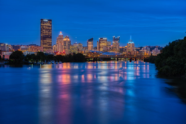 Downtown from Washington Landing - Pittsburgh Pennsylvania