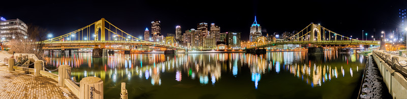 Downtown Pittsburgh North Shore - Panorama