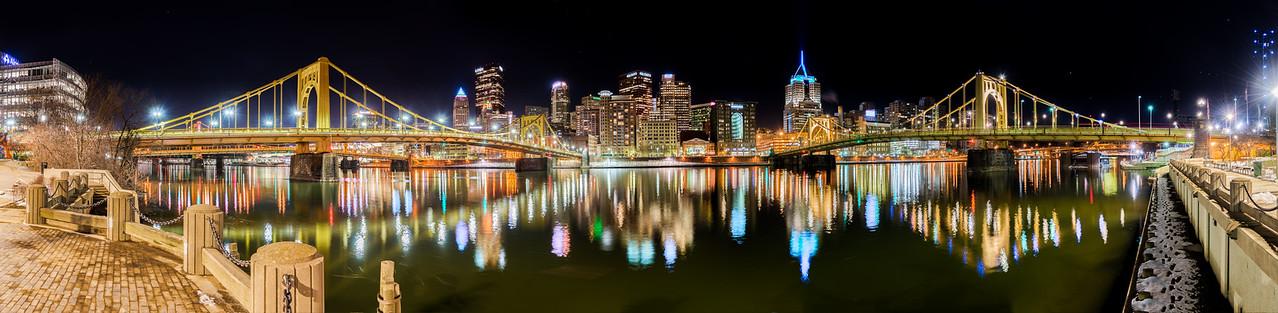 Downtown Pittsburgh North Shore - Panorama