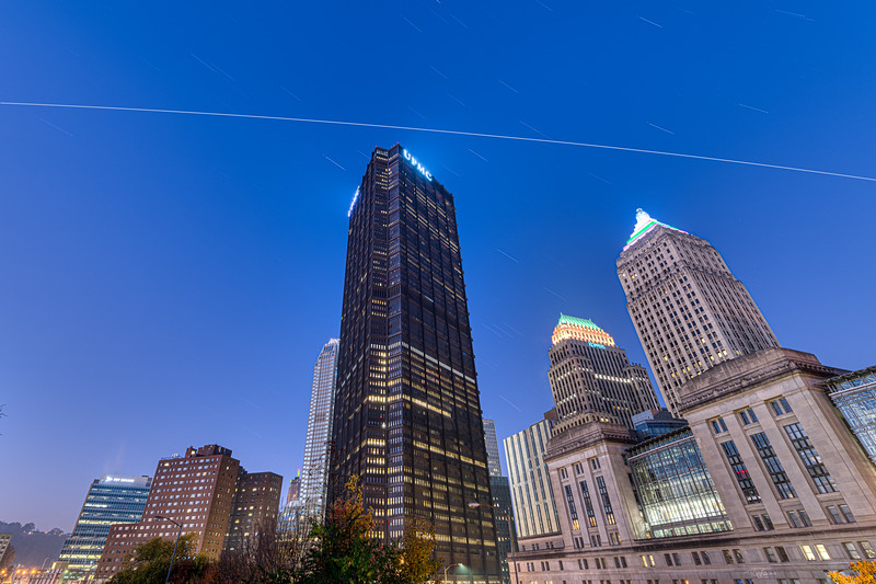 International Space Station over the US Steel Building
