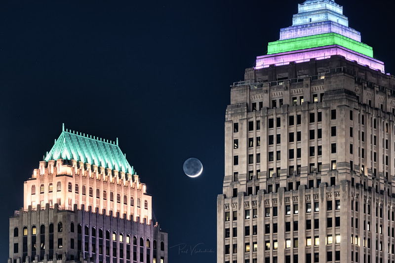 Partial Moon Setting - Pittsburgh Pennsylvania