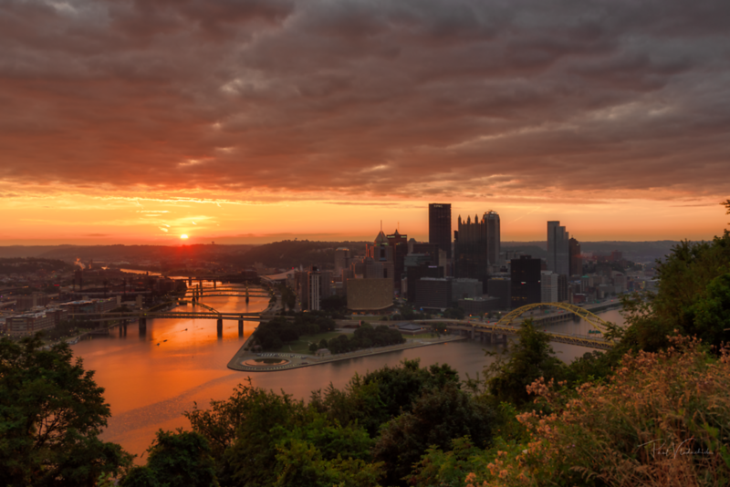 Sunrise on the Allegheny River - Pittsburgh Pennsylvania