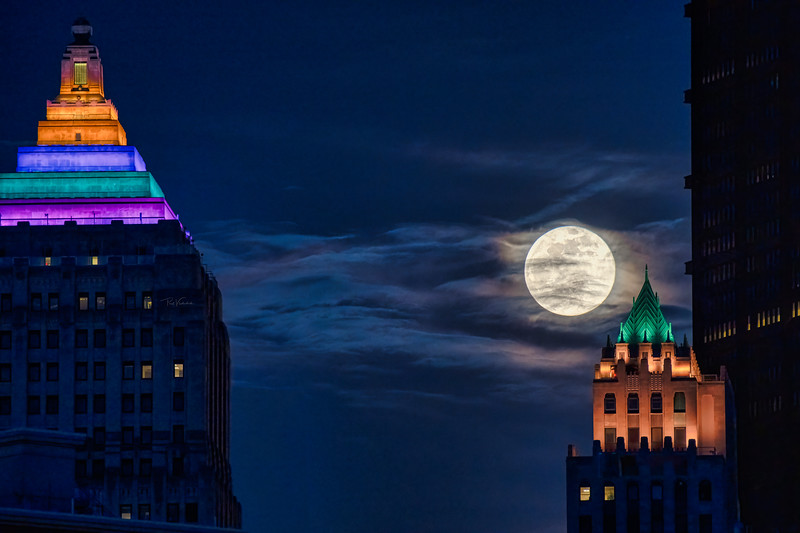 Pink Super Moon over Pittsburgh